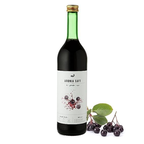 nu3 Zumo de Aronia orgánico | 750 ml en botella de vidrio | 100% hecho
