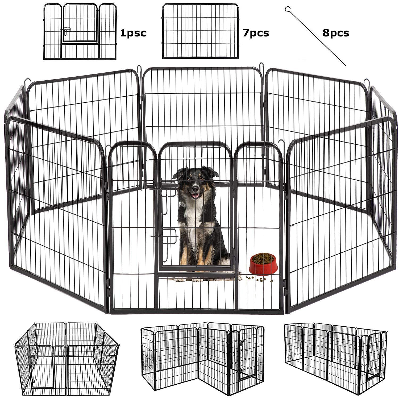 BestPet Dog Pen Extra Large Indoor Outdoor Dog Fence Playpen