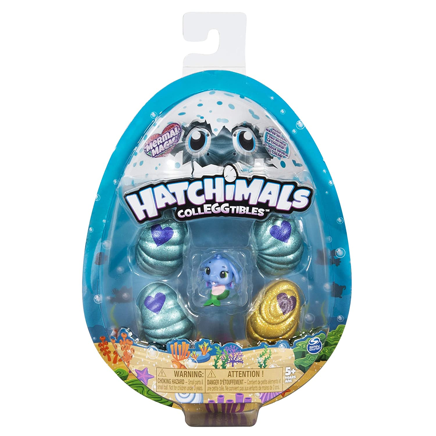 Hatchimals Colleggtibles, Mermal Magic 4 Pack + Bonus with Season 5 for Kids Aged 5 & Up (Styles May Vary)