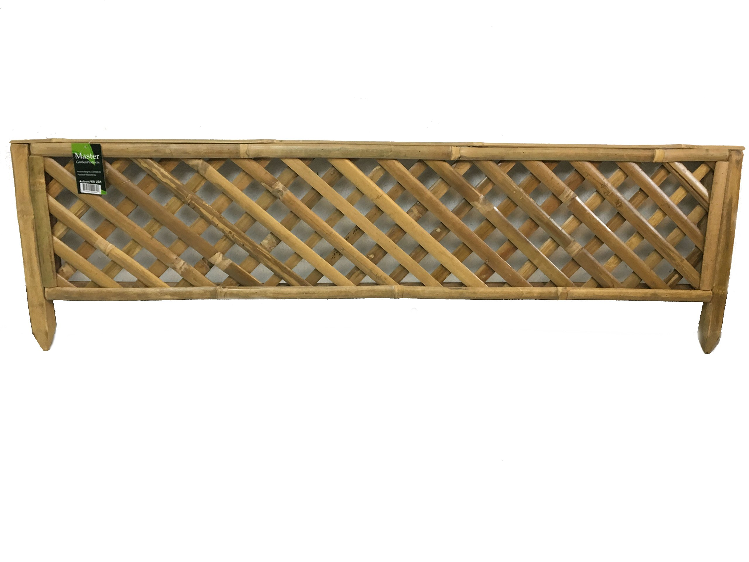 Master Garden Products Woven Bamboo Edging Trellis Panel 48'' W x 14'' H