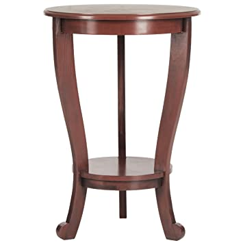 home collection pedestal side table red target mango wood natural