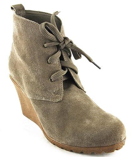 Ulla Popken Schuhe Stiefel Stiefelette High Heels Taupe 2056
