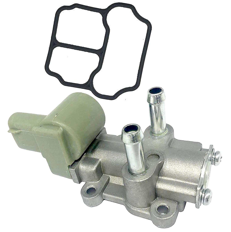APDTY 104245 IAC Idle Air Control Valve Motor w//Gasket Fits 1.6L Engine Standard Trans 1996-2000 Honda Civic CX DX LX 1996-1997 Civic Del Sol Manual Trans; Replaces 16022-P2A-J51, 36460-P2A-J01
