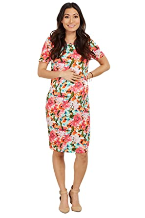 4e7ef2209d PinkBlush Maternity Multi-Color Floral Fitted Dress at Amazon ...