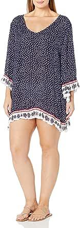 Anne Cole Women's Plus-Size Flounce Tunic Cover Up Dress