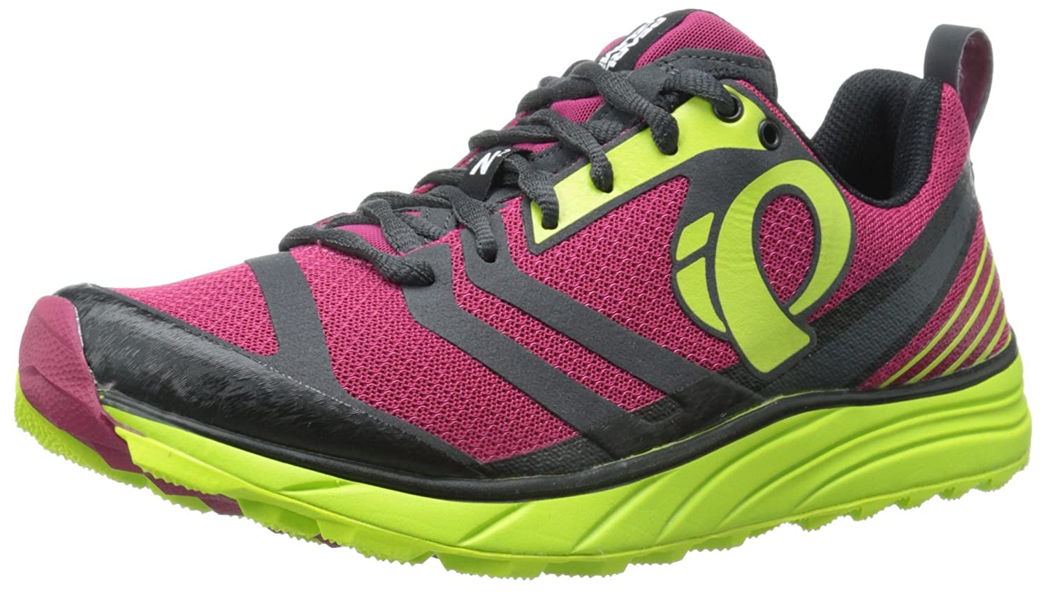 Pearl iZUMi Women's EM Trail N2 v2 Running Shoe B00QY87PXM 6 B(M) US|Cerise/Lime Punch