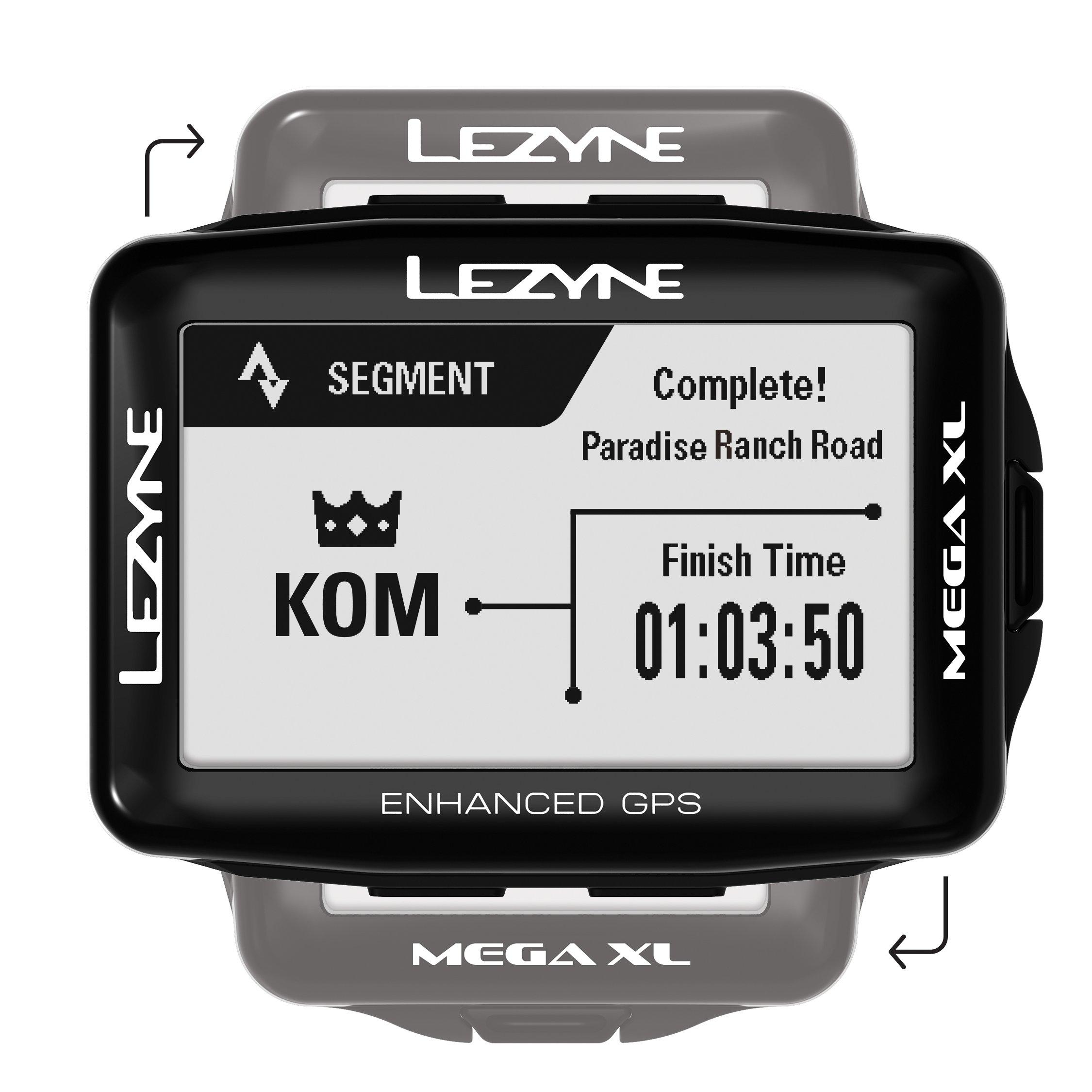 LEZYNE Mega XL GPS Bike Computer Black, One Size by LEZYNE