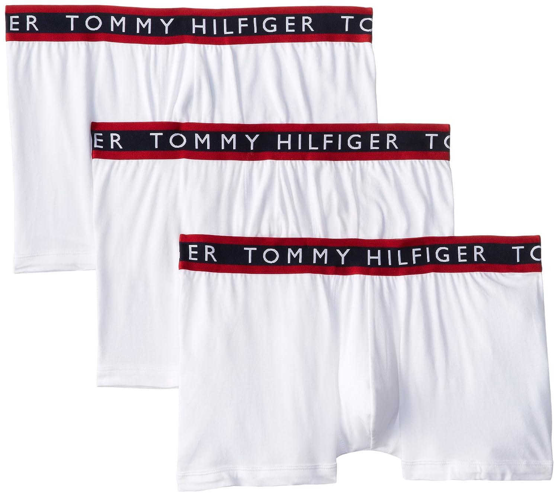 TOMMY HILFIGER (トミーヒルフィガー) ボクサーパンツ 3枚セット 09T0963 B00L3FOE1C Small / 28-30|ホワイト ホワイト Small / 28-30