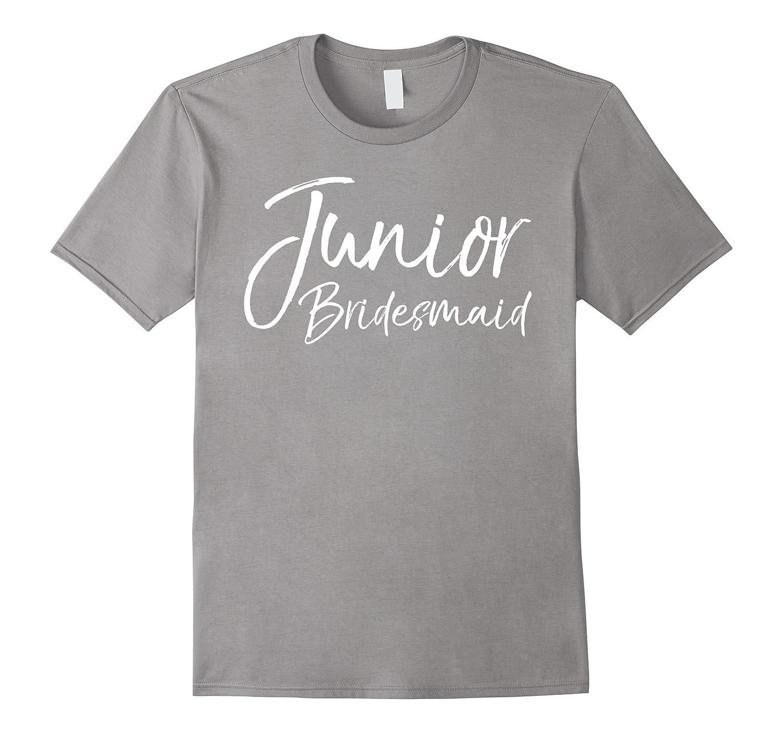 d18a67019587a Junior Bridesmaid Shirt Fun Cute Kid's Wedding Tee-BN