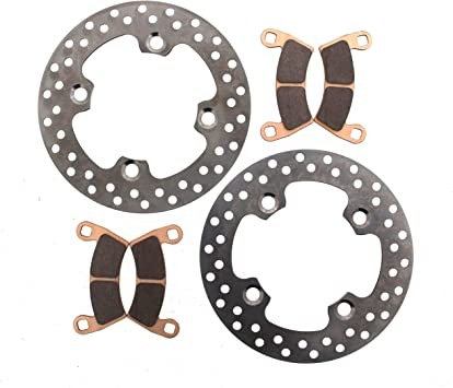 Front /& Rear RipTide Rotors /& MudRat Brake Pads 2016 Polaris Ranger XP 900 HL