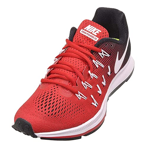 new style a8d71 56b97 Nike Womens Air Zoom Pegasus 33 TB Running Shoes, University Red White-Black