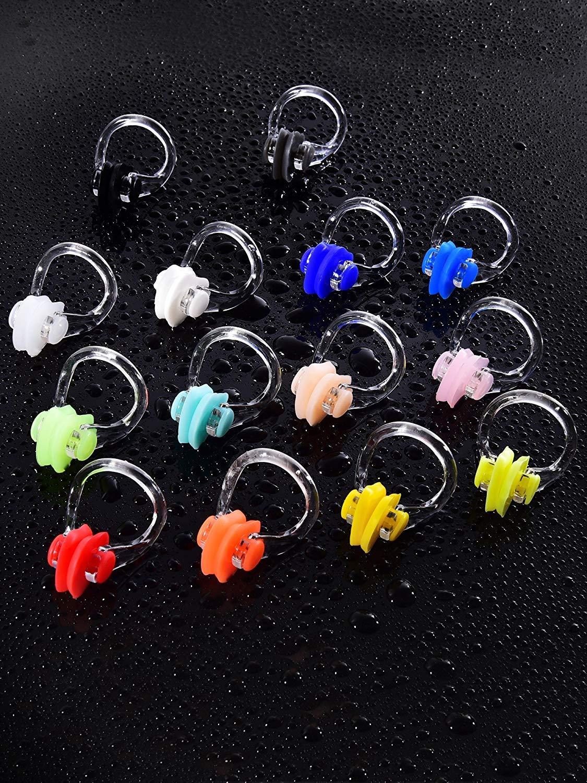 Multicolor JTShop 14 Pieces Swimming Nose Clip Silicone Swim Training Nose Protector Plug