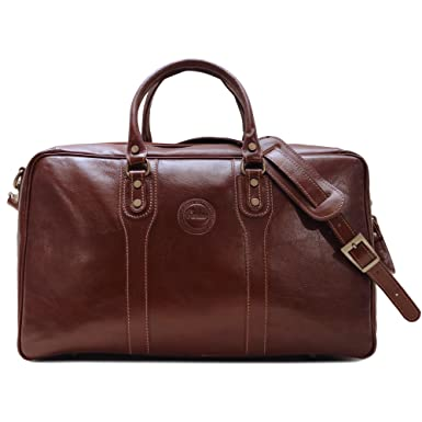 1722ea633168 Image Unavailable. Image not available for. Color  Cenzo Leather Suitcase  Duffle Bag