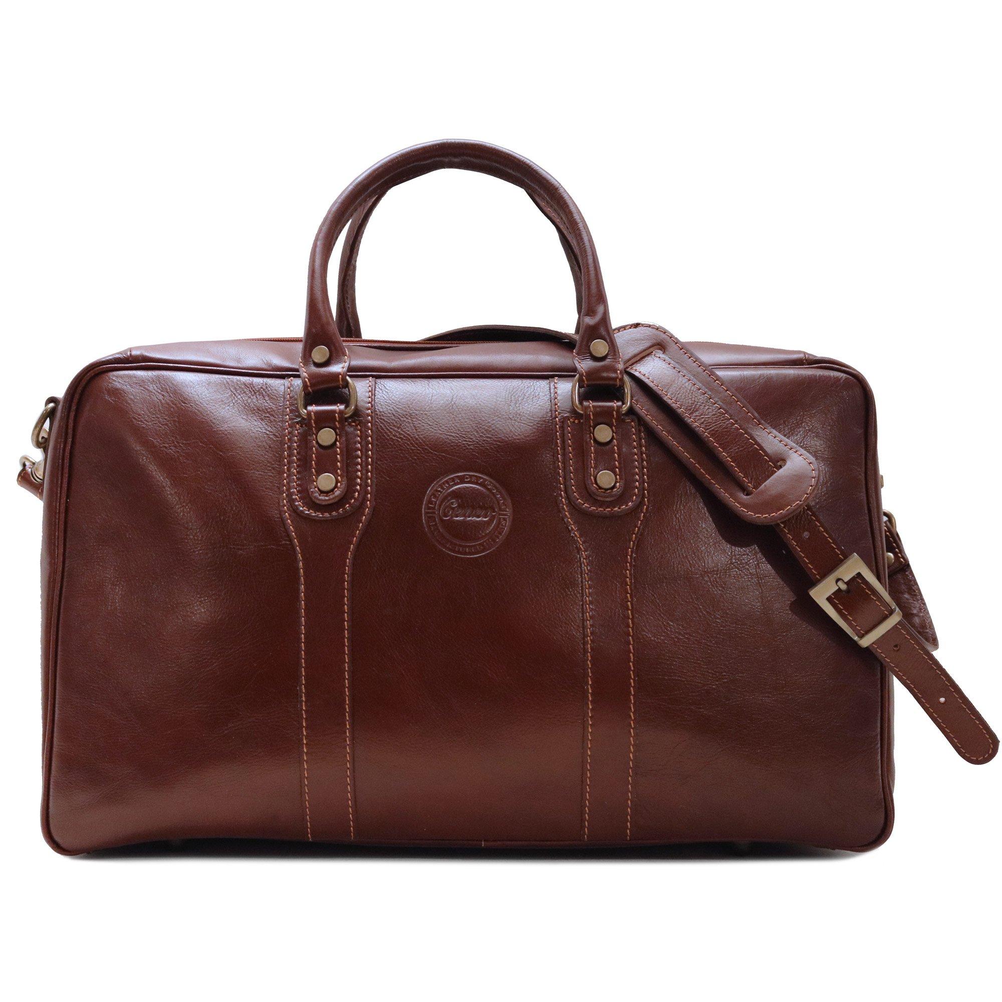 Cenzo Leather Suitcase Duffle Bag