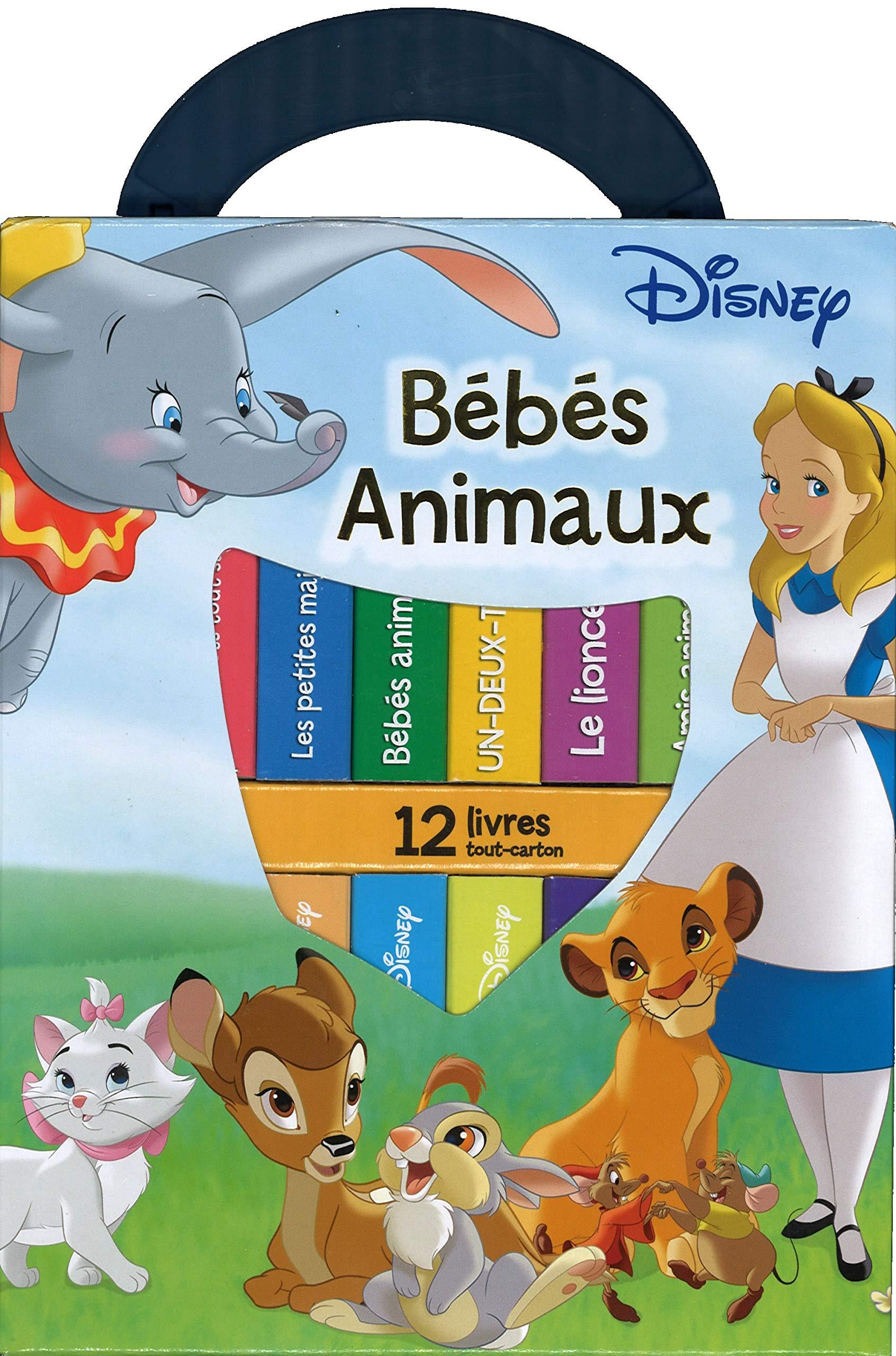 Ma Premiere Bibliotheque Bebes Animaux De Disney Avec 12