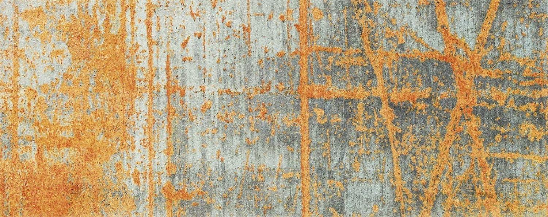 Wash+dry Rustic Fußmatte, Acryl, orange, 80 x 200 x 0.9 cm