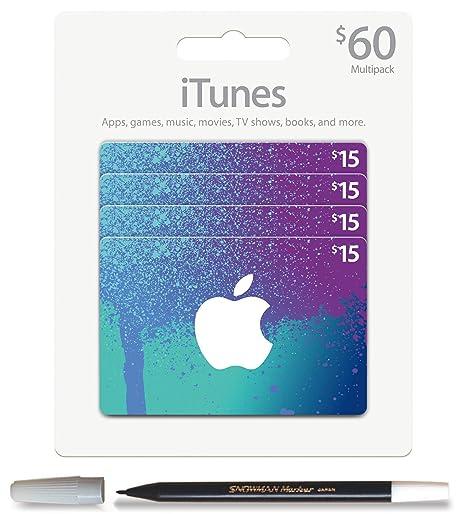 Bundle: iTunes $ Dólares de los 60 (Juego de 4 x 15) tarjeta ...