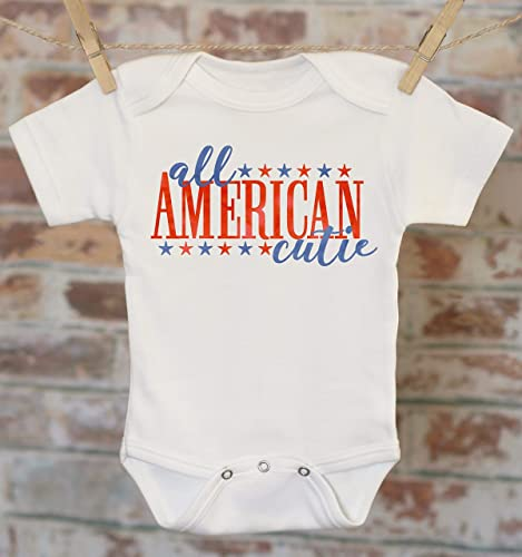 3a6d7c84 Amazon.com: All American Cutie Onesie, Patriotic Baby Clothes, Merica  Outfit, Memorial Day Outfit, Summer Baby Clothes, 4th of July Onesie:  Handmade