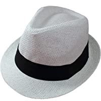 192584afdf0 Gelante Summer Fedora Panama Straw Hats with Black Band