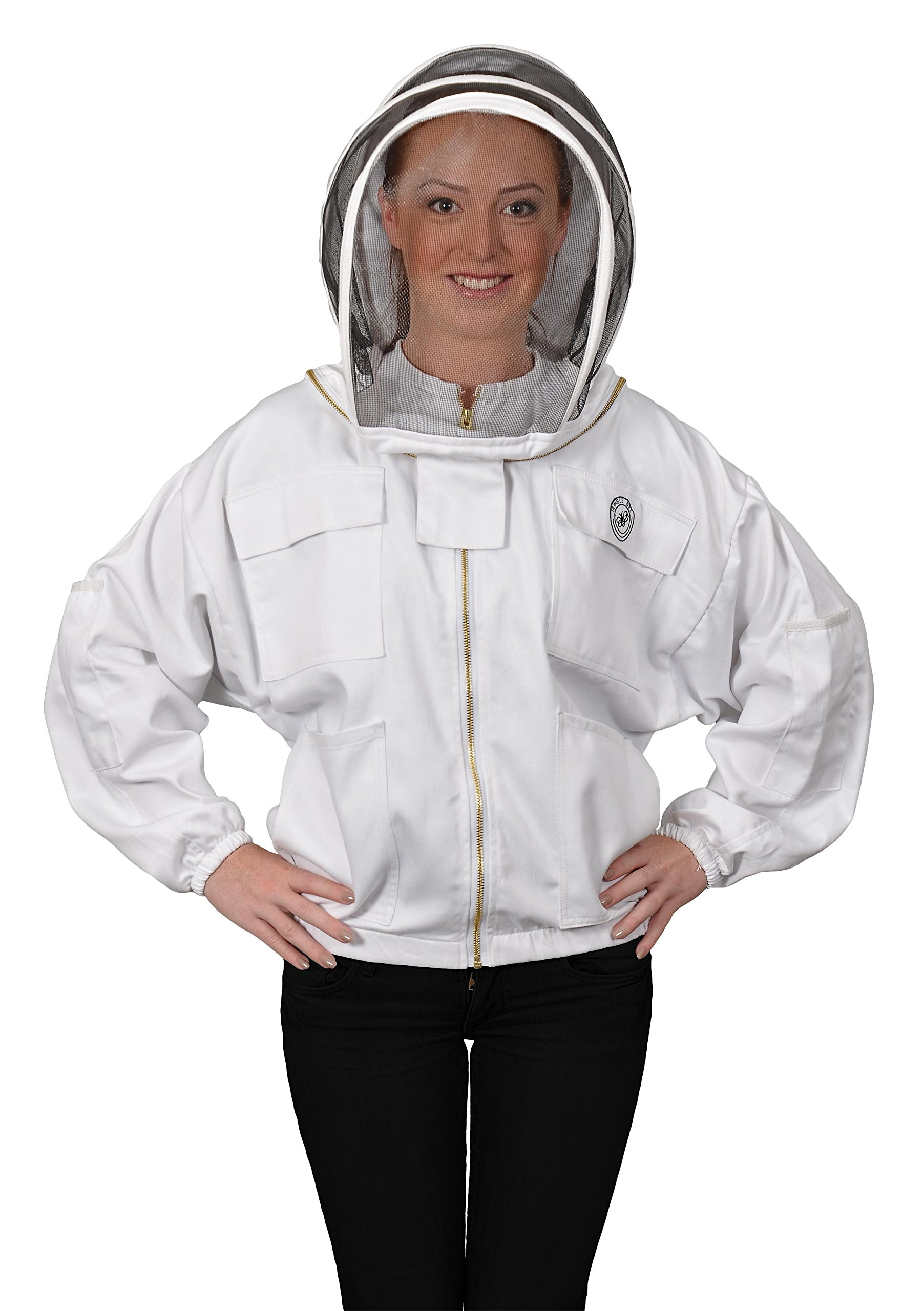 Humble Bee 311-L Polycotton Beekeeping Jacket with Fencing Veil (Large)