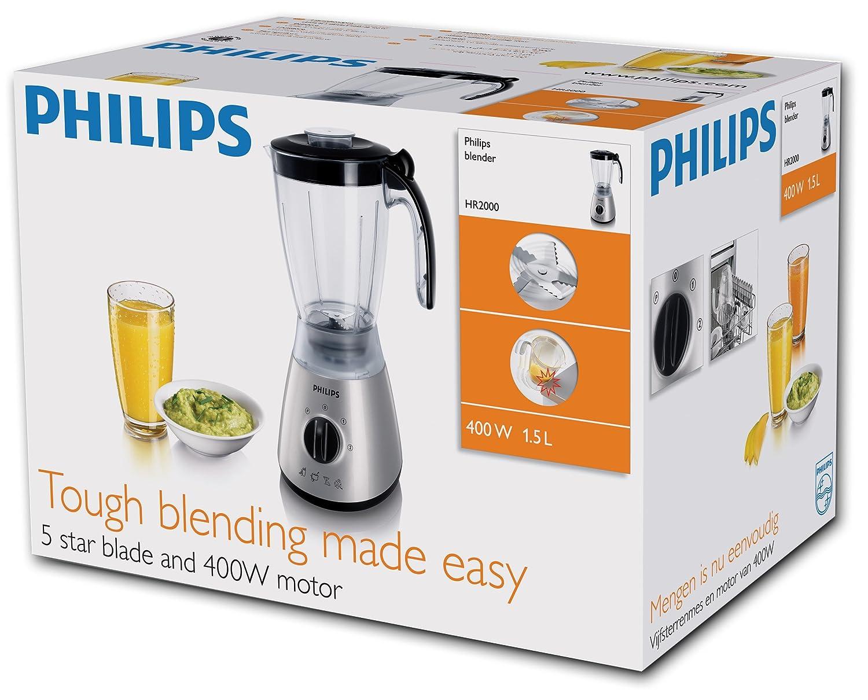 Amazon.com: Philips Philips 400 W Jarra Batidora acabado ...