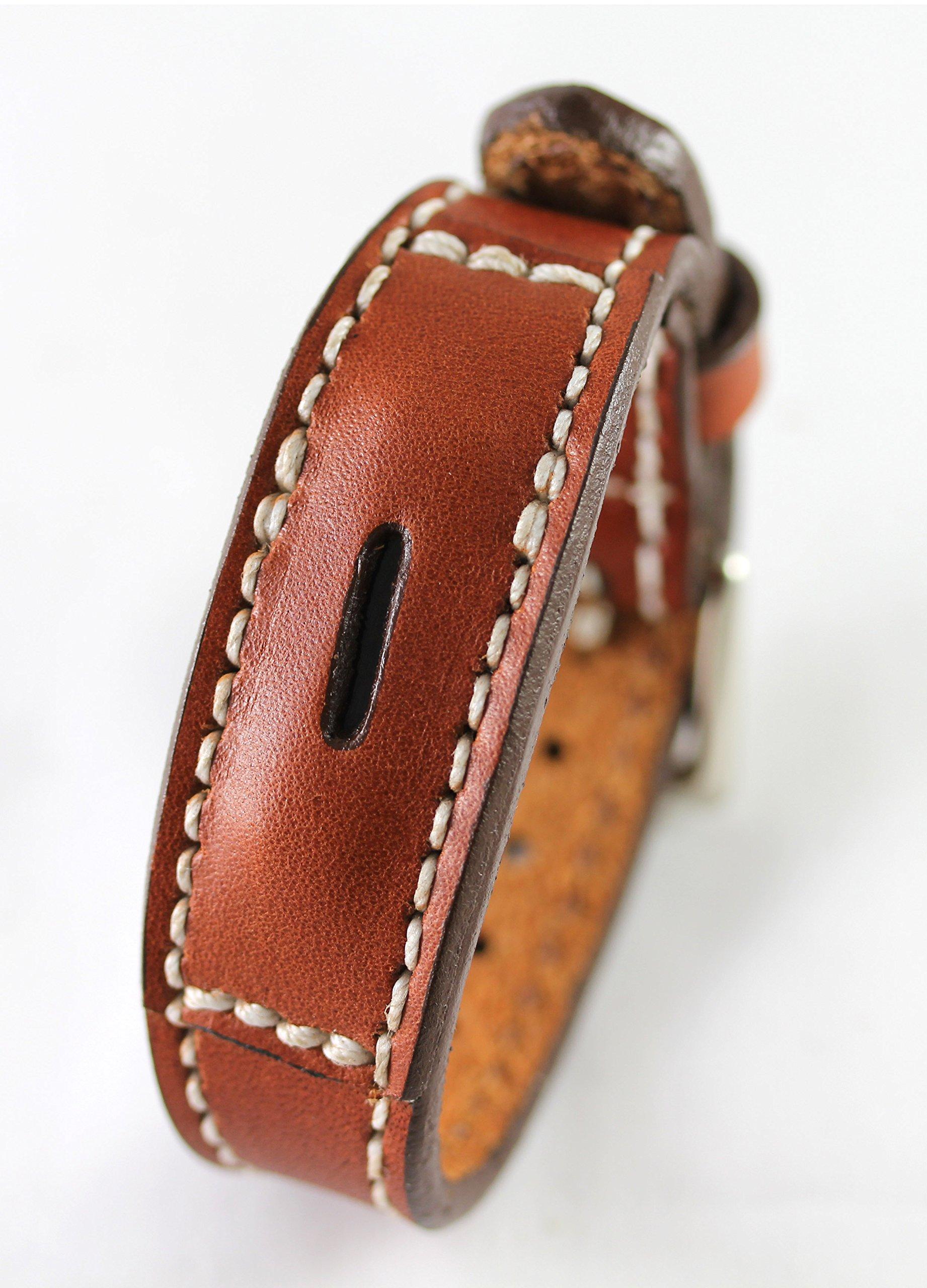 Fitbit Flex 2 Real Leather Band - Replacement Band For Fitbit Flex 2 - Full Grain Fit Bit Flex band (Cognac, X-Large) by Desantis Leather Goods