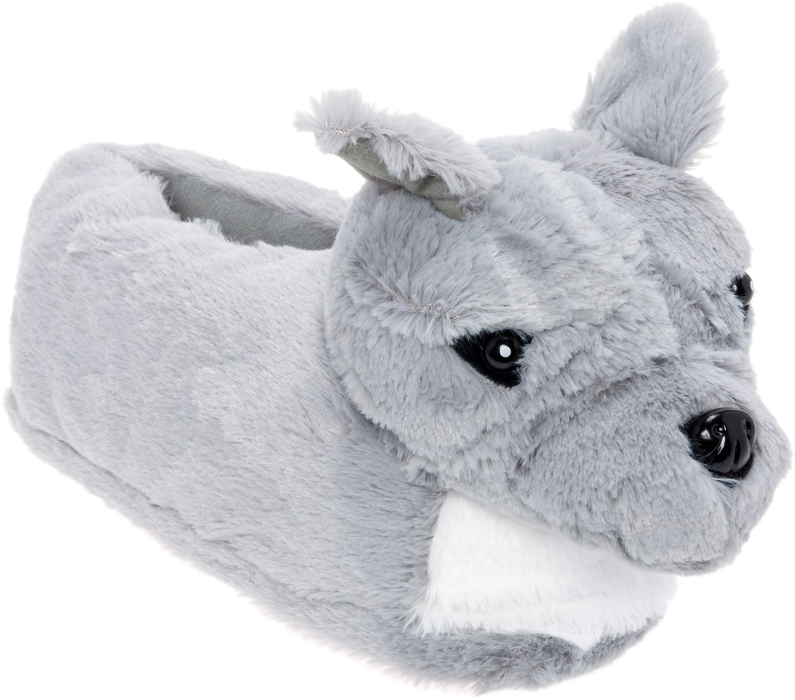 Silver Lilly Blue Nose Pit Bull Slippers - Plush Pitbull Dog Slippers w/Platform by (Small)