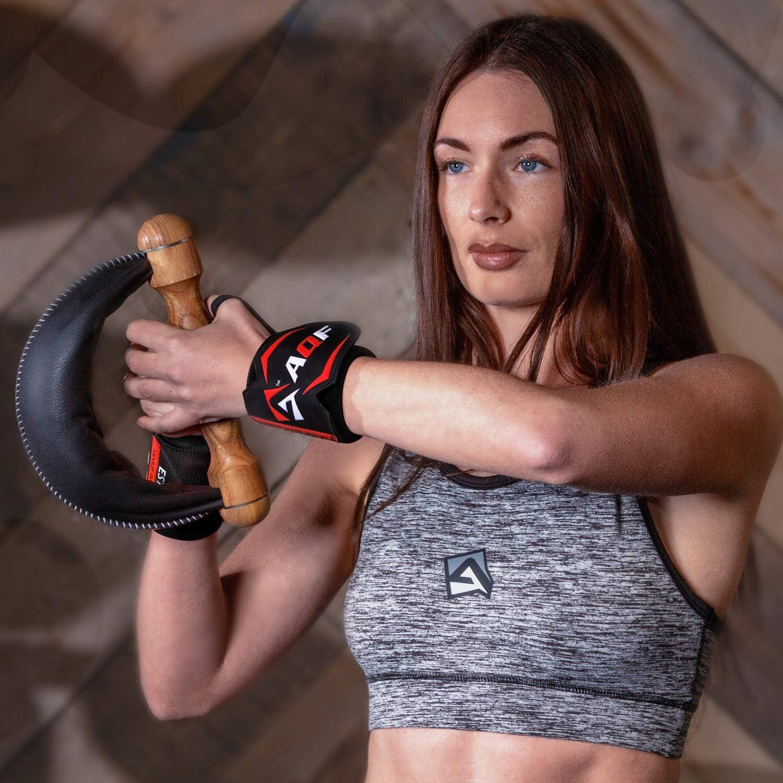 AQF Protege Poignet 18 Supportent Les Dhalt/érophilie Les Attelle Poignet De Force Dentra/înement Gymnastique Musculation avec Boucle pour Le Pouce