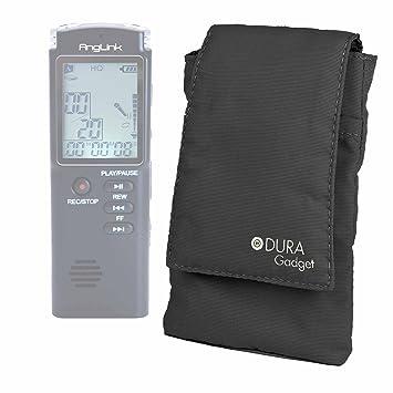 DURAGADGET Funda Acolchada Grabadora Digital Portátil AngLink T-60 / Tascam DR-05 V2 - ¡Ideal para Llevar Su Smartphone A La Oficina O Al Gym!