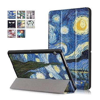 incontrare c1720 d64db Huawei Mediapad T3 10 Cover - DETUOSI Ultra Slim Custodia in pelle PU per  Huawei Mediapad T3 10 Pollici Tablet(2017 Modello) Copertura protettiva con  ...