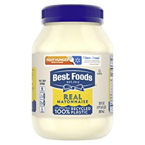 Best Foods Real Mayonnaise For a Creamy Condiment for Sandwiches and Simple Meals Real Mayo Gluten Free, Made With 100% Cage-Free Eggs 30 oz
