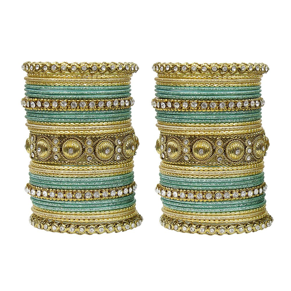MUCH-MORE Indian Traditional Amazing Collection Multi Color Bangles for Womens 2.4) GB-01