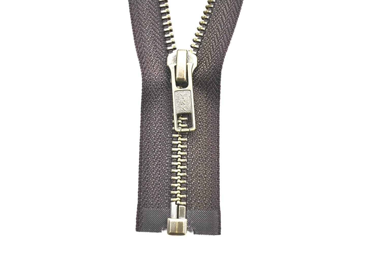 YKK zip 1/Vie divisibile Schokobraun 65/cm metallo metallo denti