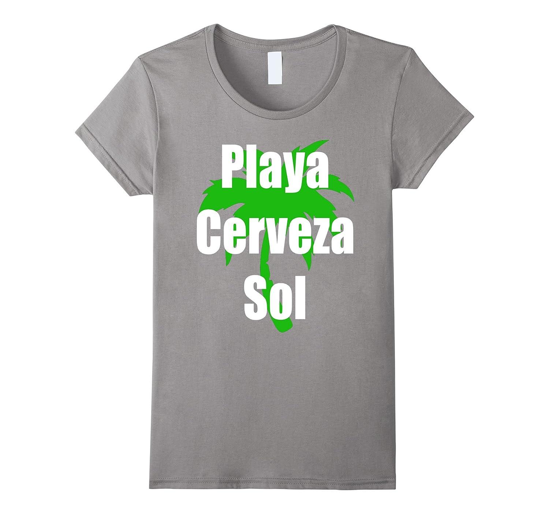 Amazon.com: Playa Cerveza Sol T-Shirt Camiseta Beach Bear Sun in Spanish: Clothing