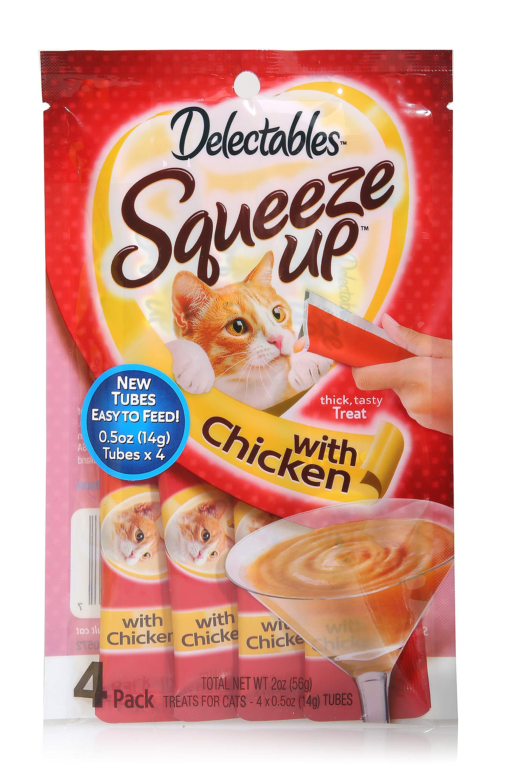 HARTZ Delectables Squeeze Up Interactive Wet Cat Treats - Chicken - 32 Tubes