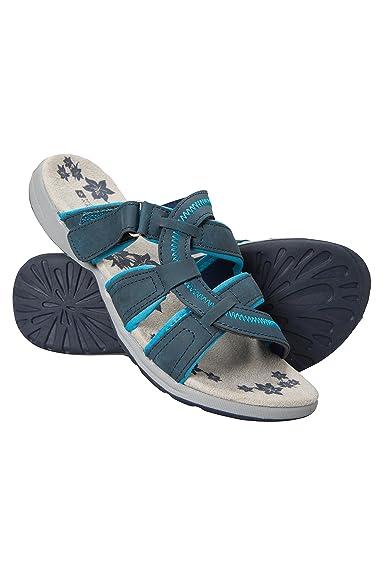 Mountain Warehouse Tide Sandalen für Damen - Neoprenfutter, strapazierfähige Laufsohle aus Gummi, Leicht, Flipflops, tragefreundlich - Für Sommer, Strand, Pool Marineblau 40 EU