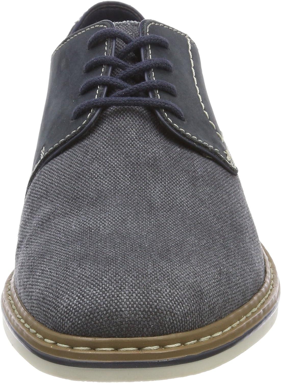Men's RIEKER 16810 Canvas Lace up Shoe in Black