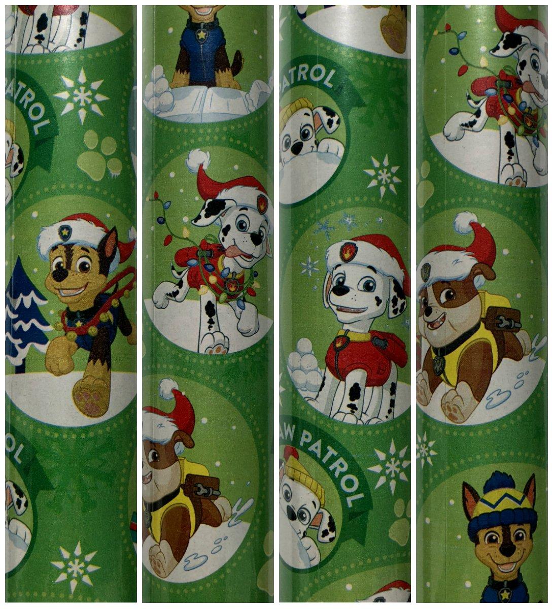 Unbekannt Grün Paw Patrol Weihnachten Geschenkpapier mit Chase ...