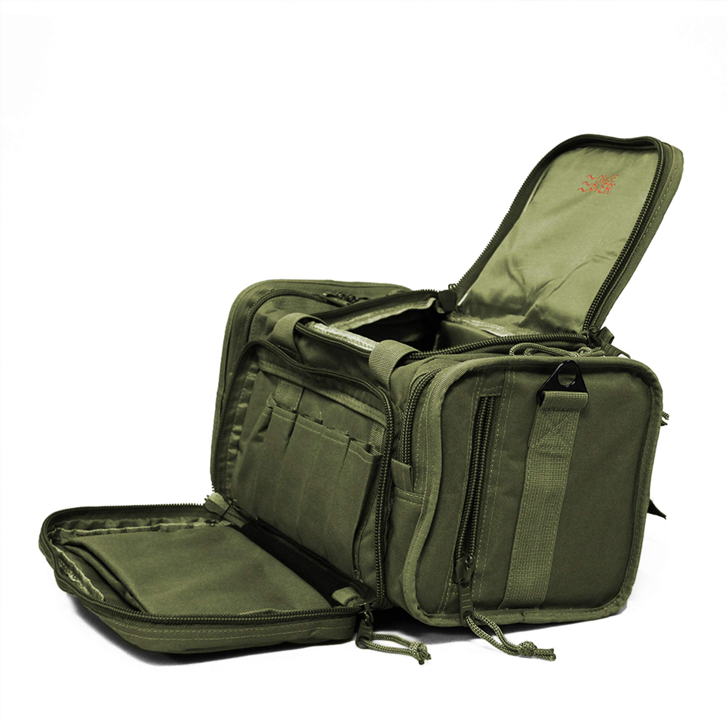 Osage River Tactical Shooting Gun Range Bag, OD Green , Light Duty (13.5 x 10.5 x 7.5) Inches