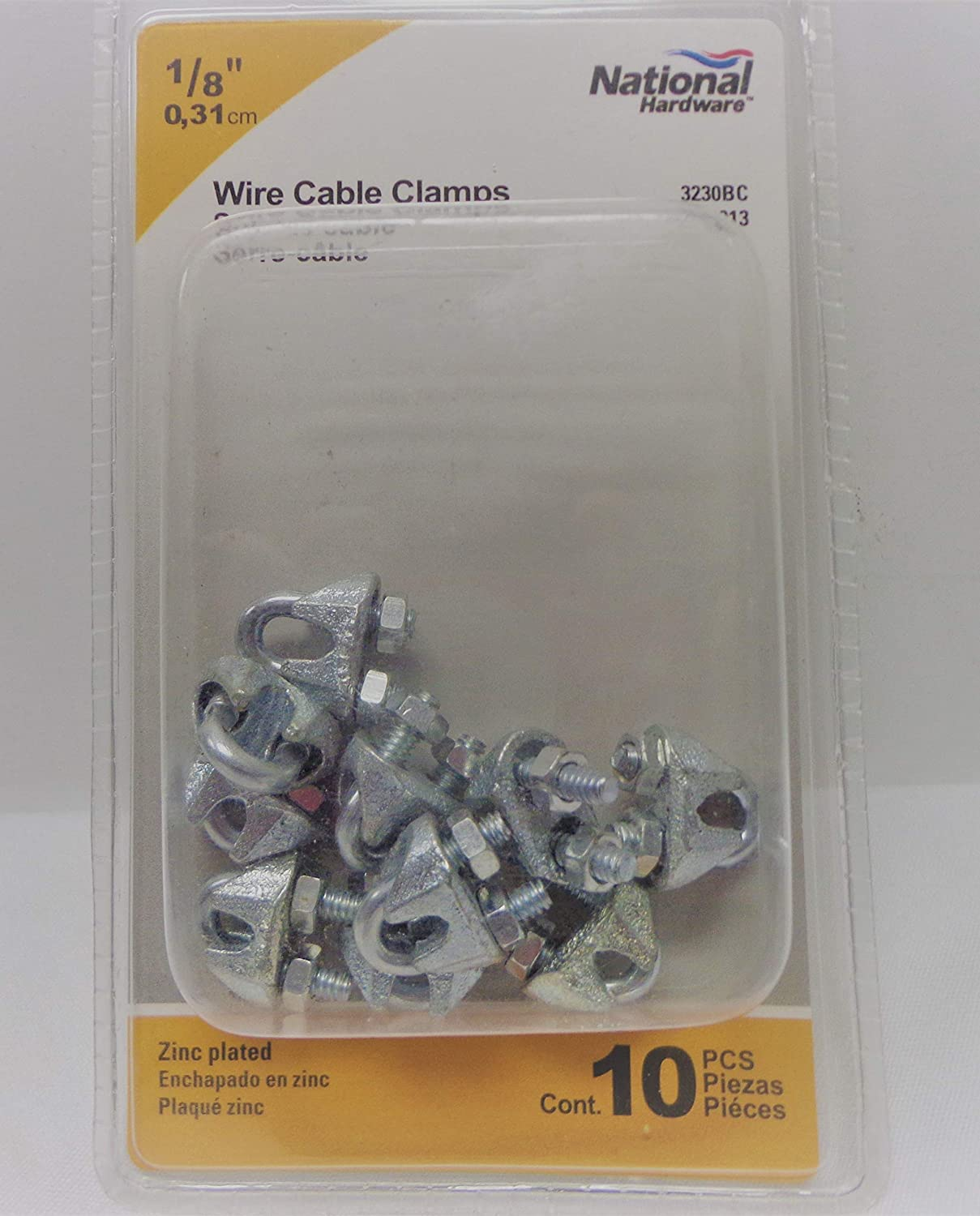 10 Pack NATIONAL HARDWARE 1//8 N889-013 Wire Cable Clamps ZINC Plated