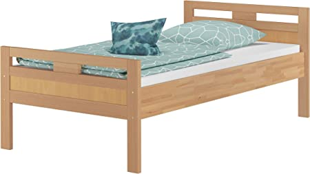 Letto 100x200.Erst Holz Solido Letto 100x200 Anche Per Anziani In Faggio Eco