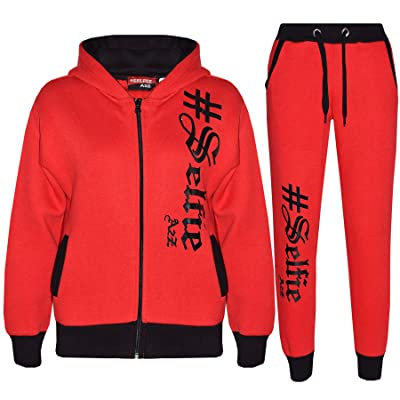 A2Z 4 Kids® Kids Jogging Suit Boys Girls Designer's #Selfie Top Bottom Tracksuit Age 5-13 Yr