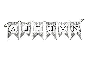 Amazon.com: Local Legends Designs Cartel de otoño con diseño ...