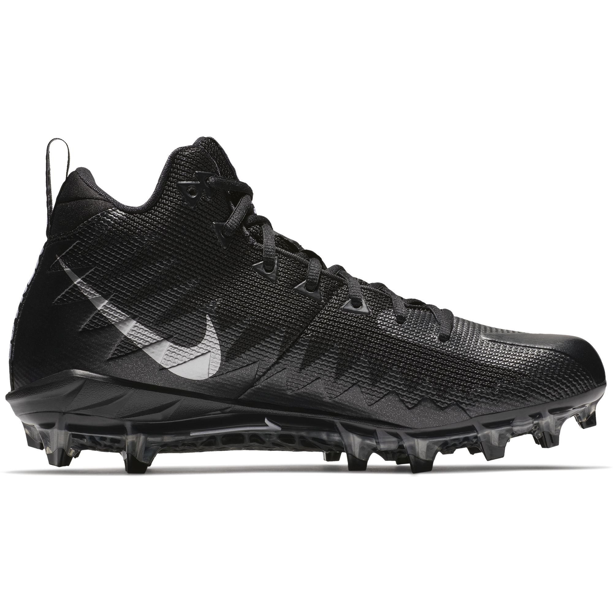 the best attitude bf381 7c532 Galleon - Nike Mens Alpha Menace Pro Mid Football Cleat BlackMetallic  Silver Size 10.5 M US