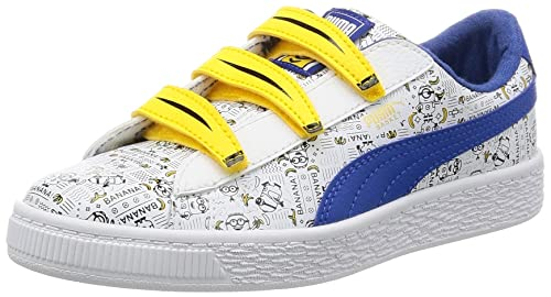 Puma Minions Basket V PS, Zapatillas Unisex Niños, Blanco (White-Lapis Blue), 34 EU: Amazon.es: Zapatos y complementos