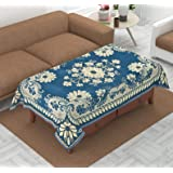 Luxury Crafts™ Luxurious Attractive Design Chenille 4 Seater Centre Table Cover (Sky Blue)