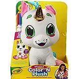 "Crayola 12"" Deluxe Color 'N Plush Unicorn - Draw, Wash Reuse, Multi,"