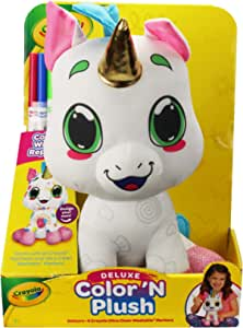 "Crayola 12"" Deluxe Color 'N Plush Unicorn - Draw, Wash Reuse"