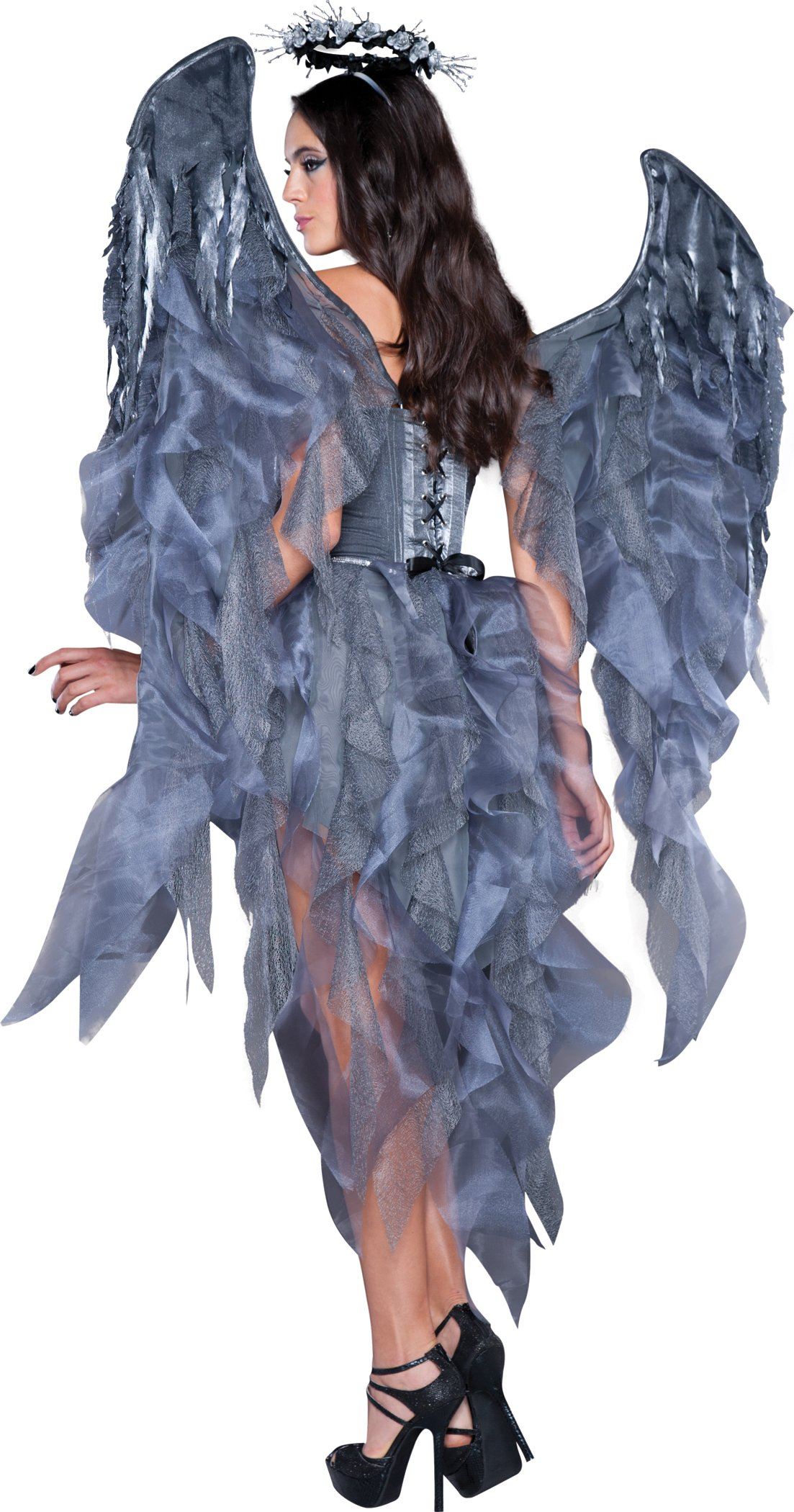 InCharacter Costumes Women's Dark Angel's Desire Costume, Grey/Silver, Medium by Fun World (Image #2)