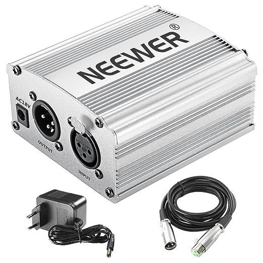 10 opinioni per Neewer 1-Canale 48V Phantom Alimentatore di colore Argento con Adattatore e Cavo